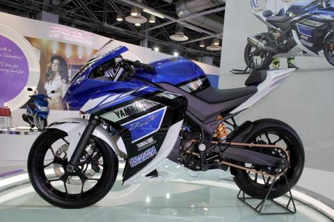 Dan xe Yamaha khoe dang tai trien lam Auto Expo 2014 hinh anh