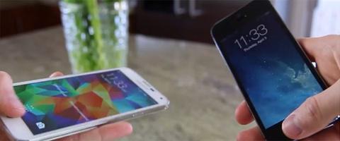 iPhone 5S va Galaxy S5 do cam bien van tay hinh anh