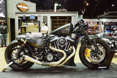 Moto Harley-Davidson do danh cho tin do Lamborghini hinh anh