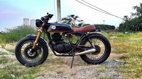 Suzuki GN250 do dang tracker cua tho Sai Gon hinh anh