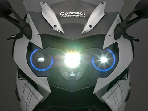 BMW trang bi den pha laser cho moto hinh anh