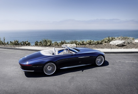 Xe mui tran Mercedes-Maybach 6 Cabriolet concept lan banh hinh anh
