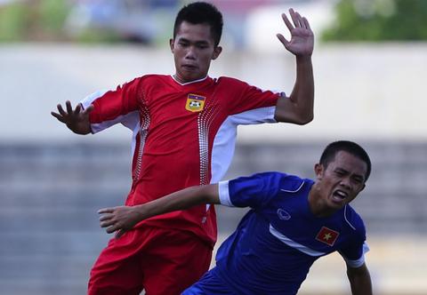 Thai Lan, Lao gianh ve vao ban ket giai U19 Dong Nam A hinh anh