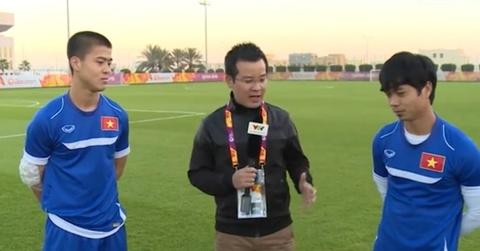 Cong Phuong, Duy Manh chia se truoc tran dau gap U23 UAE hinh anh