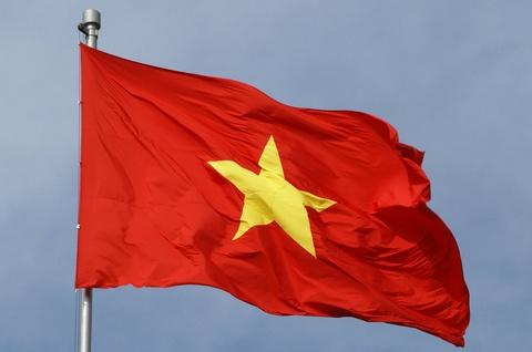 Quoc ky Viet Nam tung bay o Lang Olympic hinh anh