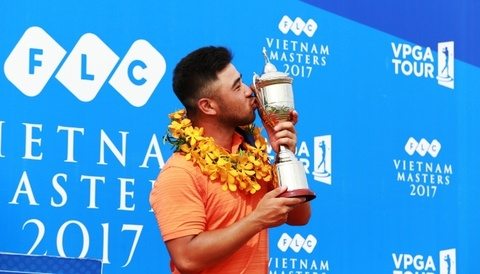 Golfer Viet kieu vo dich giai VPGA Tour dau tien hinh anh