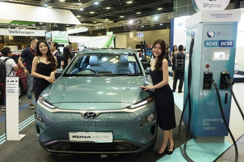 Singapore Motorshow 2019 - su troi day cua xe dien hinh anh