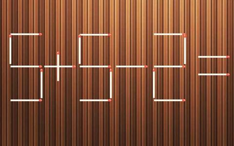 Di chuyển một que diêm để phép tính 5 + 5 - 2 = 6 thành đúng
