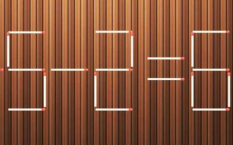 Đáp án di chuyển một que diêm để phép tính 5+5-2=6 thành đúng