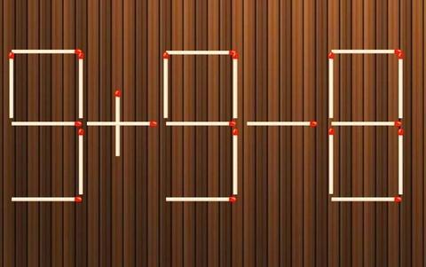 3 cách di chuyển một que diêm để sửa phép tính 9 + 9 - 8 = 3