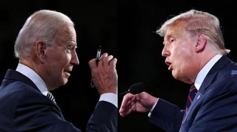 Nut tat micro va 'buoi dien kich cam' Trump - Biden hinh anh