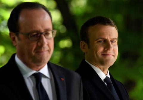 21 phat dai bac va ga trong cho le nham chuc cua Macron hinh anh