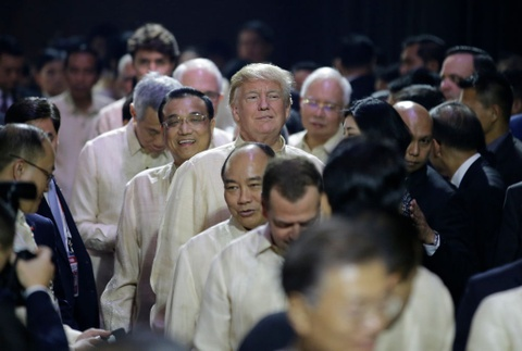 Trump, Trudeau va lanh dao ASEAN du yen tiec tai Philippines hinh anh 1
