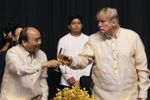 Trump, Trudeau va lanh dao ASEAN du yen tiec tai Philippines hinh anh 6