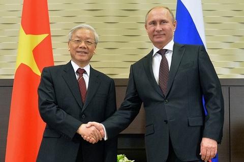 Tong bi thu Nguyen Phu Trong se hoi dam voi Tong thong Putin o Sochi hinh anh