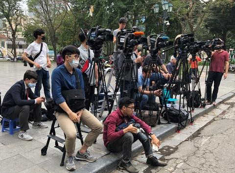 Những ngày dài săn hội nghị Mỹ - Triều của phóng viên quốc tế