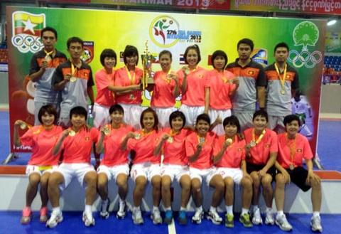 Viet Nam gianh chuc vo dich giai Futsal nu Dong Nam A hinh anh