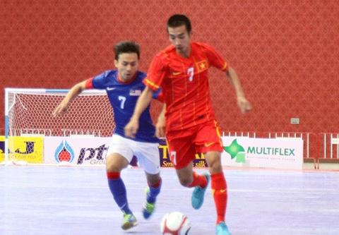 Viet Nam ha Malaysia tai giai Futsal Dong Nam A hinh anh