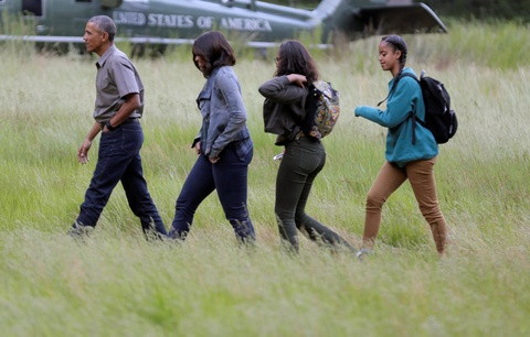Obama keu goi bao ve moi truong khi di nghi cuoi tuan hinh anh 2