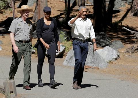 Obama keu goi bao ve moi truong khi di nghi cuoi tuan hinh anh 4
