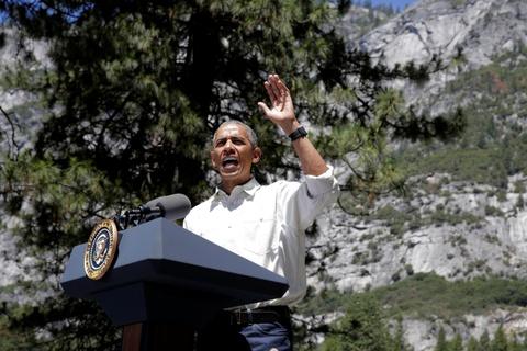 Obama keu goi bao ve moi truong khi di nghi cuoi tuan hinh anh 9