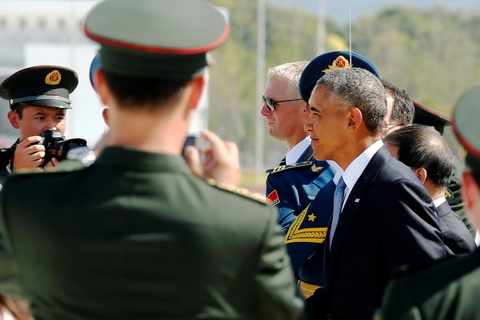 An ninh Trung Quoc quat nat doan thap tung Tong thong Obama hinh anh