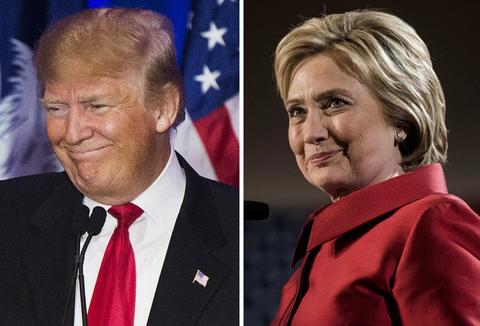 Tham do bau cu: Trump thu hep khoang cach voi ba Clinton hinh anh