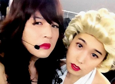 Thanh vien Super Junior hoa... Marilyn Monroe hinh anh