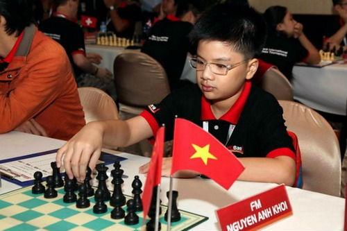 Nguyen Anh Khoi vo dich co vua U12 the gioi hinh anh 1 Anh Khôi tạo được tiếng vang lớn tại các giải cờ vua trẻ ở cấp độ châu lục, thế giới trong suốt 3 năm qua.