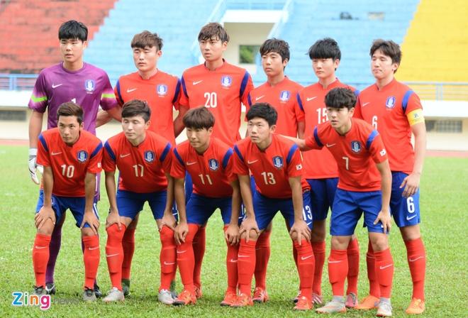 Cong Phuong muon choi het minh truoc khi sang Nhat Ban hinh anh 2 U19 Hàn Quốc có thể hình tuyệt vời. Họ đứng đầu bảng vòng loại U19 châu Á thuyết phục.