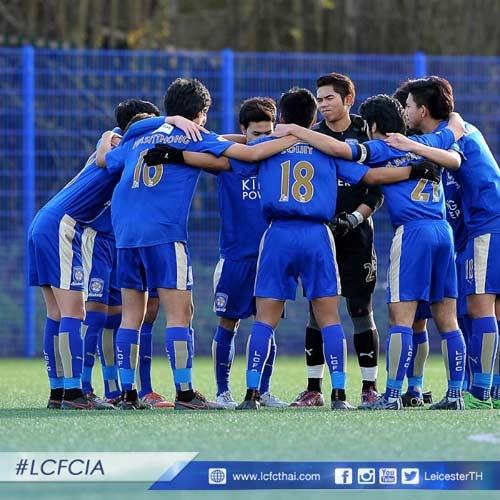 Thai Lan om mong World Cup tu 16 cau thu an tap o Anh hinh anh 1 Dưới cái tên Team Siam, đội bóng trẻ của Thái Lan để lại nhiều ấn tượng đối với Leicester City.