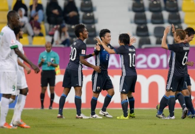 U23 Nhat Ban thang U23 Saudi Arabia bang 2 ban thang dep mat hinh anh