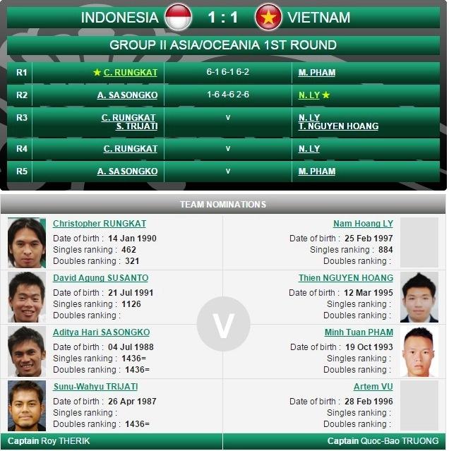 Hoang Nam giup tennis Viet Nam hoa Indonesia o Davis Cup hinh anh 1