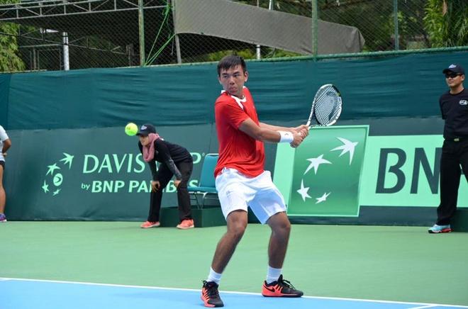 Hoang Thien, Hoang Nam thang tran ngoan muc o Davis Cup hinh anh