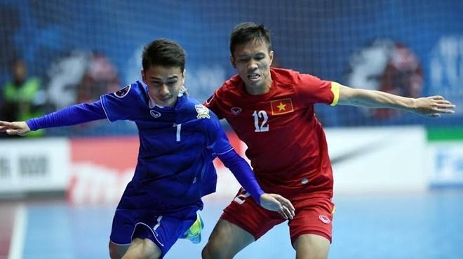 Futsal Viet Nam nam cung bang Thai Lan tai giai Dong Nam A hinh anh