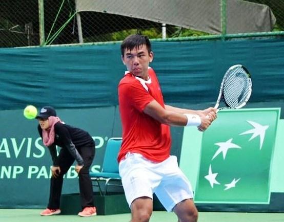 Ly Hoang Nam chan thuong, bo cuoc tai Davis Cup hinh anh