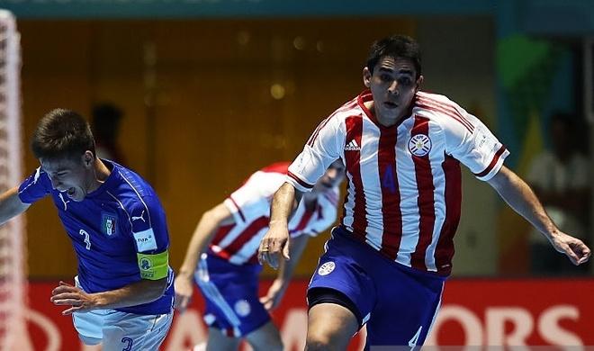 Tuyen futsal Paraguay canh giac truoc Viet Nam hinh anh