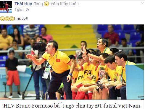 Tuyen thu futsal Viet Nam hut hang vi HLV Bruno chia tay hinh anh 1