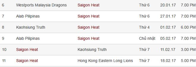 Saigon Heat thi dau xuyen Tet hinh anh 1