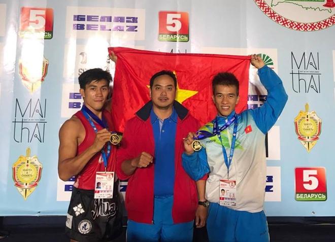 Vo si Viet Nam lan thu 7 vo dich Muay Thai the gioi hinh anh