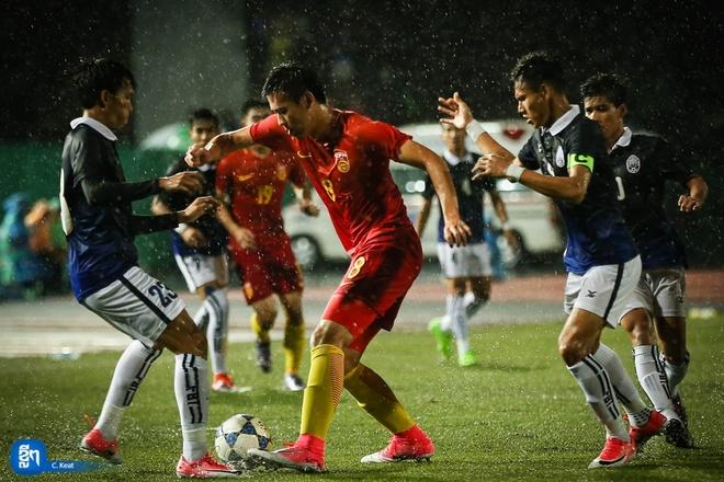 Campuchia gay bat ngo khi hoa Trung Quoc tai vong loai U23 chau A hinh anh
