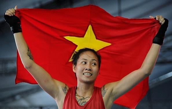 Bui Yen Ly doat HCV Muay Thai tai AIMAG 2017 hinh anh