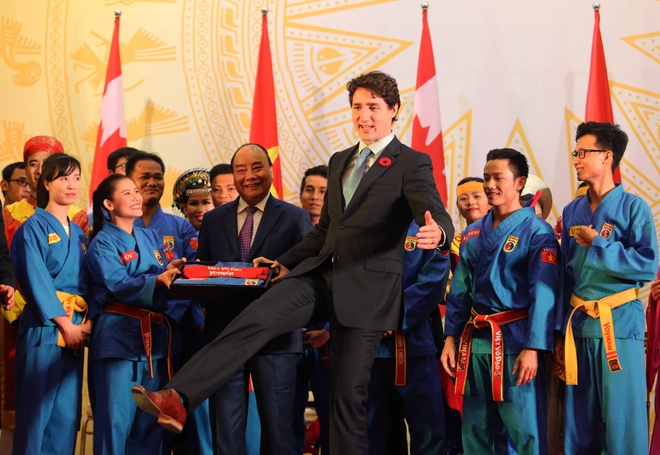 Thu tuong Canada Justin Trudeau an tuong voi vovinam hinh anh 4