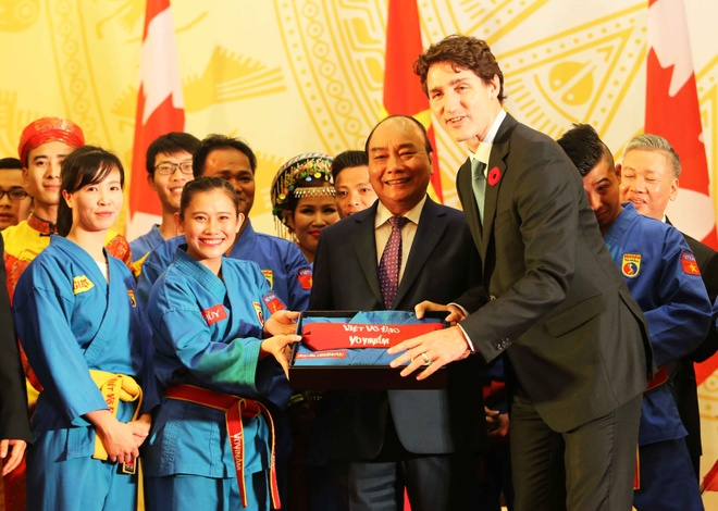 Thu tuong Canada Justin Trudeau an tuong voi vovinam hinh anh 2