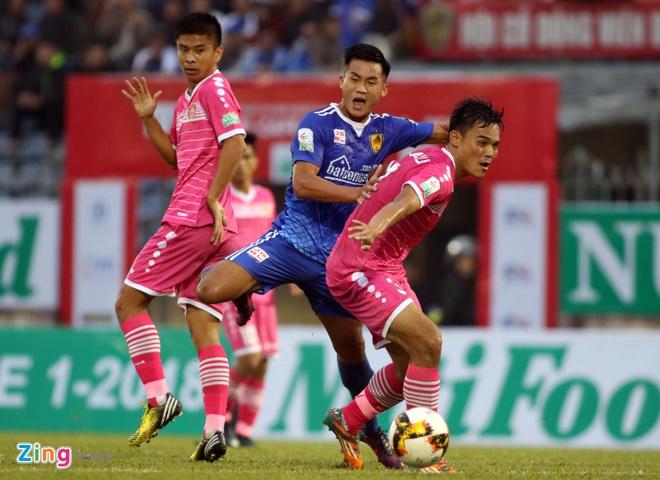 CLB Quang Nam hoa CLB Sai Gon 1-1 anh 2
