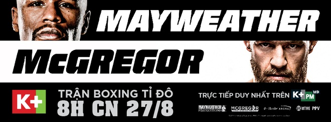 Tran so gang ty do Mayweather vs McGregor doc quyen tren K+ hinh anh 2