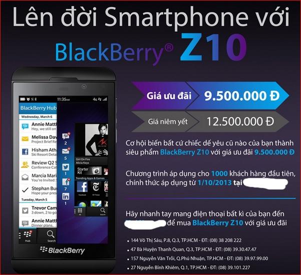 Doi dien thoai cu lay BlackBerry Z10 voi gia 9,5 trieu dong hinh anh 2