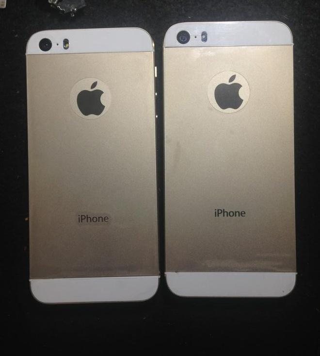 'Do' iPhone 5 thanh 5S Gold ca nut Home va cum camera hinh anh
