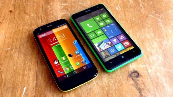 Chon Moto G hay Lumia 625? hinh anh