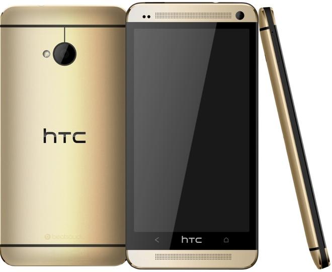 HTC One mau vang  sang trong chinh thuc ra mat hinh anh